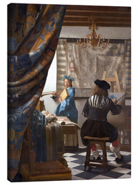 Canvas  The painting art - Jan Vermeer