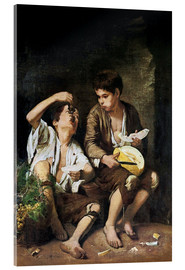Acrylic print  Boys Eating Grapes and Melon - Bartolome Esteban Murillo