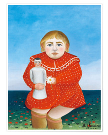 Premium poster  The girl with a doll - Henri Rousseau