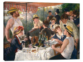 Canvas print  Luncheon of the boating party - Pierre-Auguste Renoir