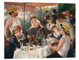 Foam board print  Luncheon of the boating party - Pierre-Auguste Renoir