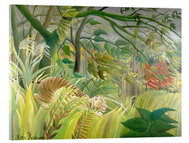 Acrylic glass  Tiger in a tropical storm - Henri Rousseau