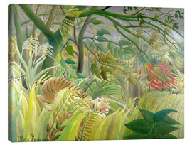Canvas print  Tiger in a tropical storm - Henri Rousseau