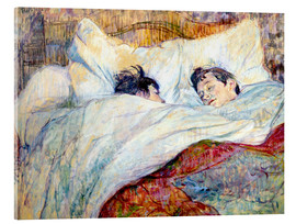 Acrylic print  The Bed - Henri de Toulouse-Lautrec