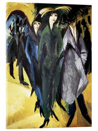 Acrylic print  Women in the Street - Ernst Ludwig Kirchner