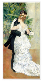 Premium poster  Dance in the city - Pierre-Auguste Renoir