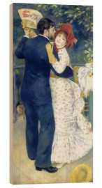 Wood print  Dance in the country - Pierre-Auguste Renoir