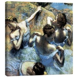 Canvas print  Blue Dancers - Edgar Degas