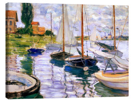 Canvas print  Sailboats on the Seine - Claude Monet