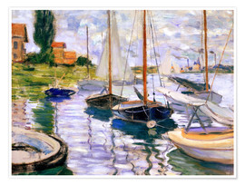 Premium poster  Sailboats on the Seine - Claude Monet