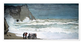 Premium poster  Rough Sea at Étretat - Claude Monet