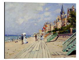 Aluminium print  The beach at Trouville - Claude Monet