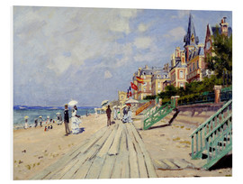 Foam board print  The beach at Trouville - Claude Monet
