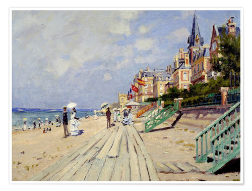 Premium poster The beach at Trouville