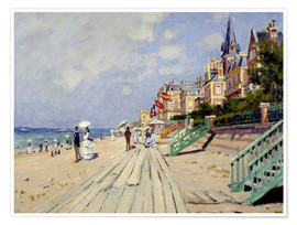 Premium poster  The beach at Trouville - Claude Monet