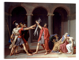 Acrylic print  Oath of the Horatii - Jacques-Louis David
