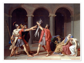 Premium poster Oath of the Horatii
