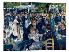 Acrylic print  Ball at the Moulin de la Galette - Pierre-Auguste Renoir