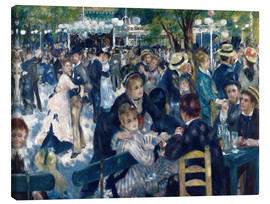 Canvas print  Ball at the Moulin de la Galette - Pierre-Auguste Renoir