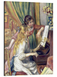 Aluminium print  Two girls at the piano - Pierre-Auguste Renoir