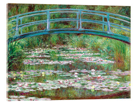 Acrylic glass  Waterlily Pond - Claude Monet