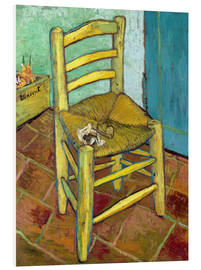 Foam board print  Van Gogh's Chair - Vincent van Gogh