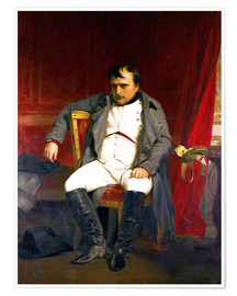 Premium poster  Napoleon after his abdication - Hippolyte Delaroche