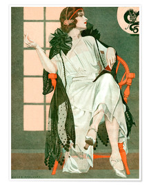 Premium poster  Lady writing - Clarence Coles Phillips