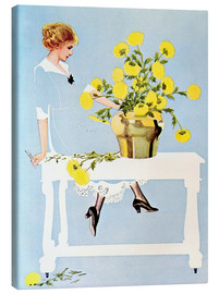 Canvas print  Housekeeper with bouquet - Clarence Coles Phillips