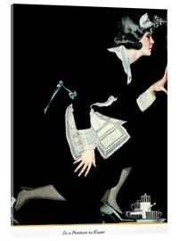 Acrylic print  in a position to know - Clarence Coles Phillips