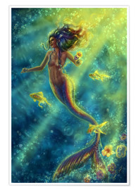 Premium poster  Rainbow Mermaid - Forbidden Desire - Tiffany Toland-Scott