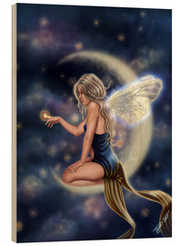 Wood print  Moon Fairy - Firefly Moon - Tiffany Toland-Scott