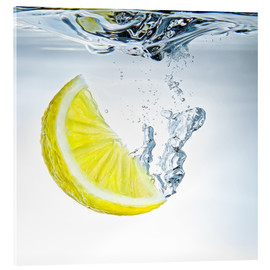 Acrylic glass  lemon splash - Silvio Schoisswohl