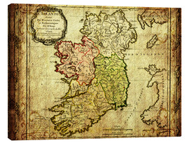 Canvas print  Ireland 1766 - Michaels Antike Weltkarten
