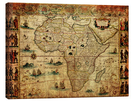 Canvas  Africa 1660 - Michaels Antike Weltkarten