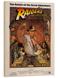 Wood print  Indiana Jones - Raiders of the lost ark