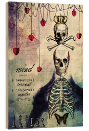 Wood print  The Mind - Sybille Sterk