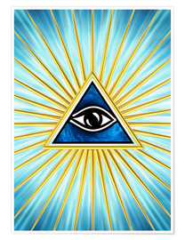 Premium poster All Seeing Eye Of God, Symbol Omniscience