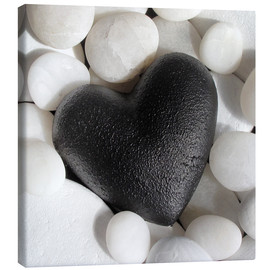 Canvas  Black Heart - Andrea Haase Foto