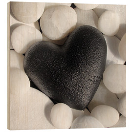Wood print  Black Heart - Andrea Haase Foto