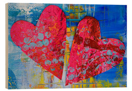 Wood print  Colorful Love - Andrea Haase