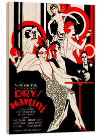 Wood print  dry Martini - Advertising Collection