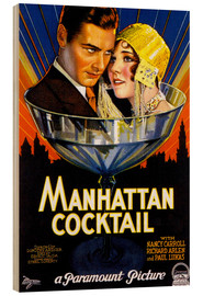 Wood print  Manhattan Cocktail - Advertising Collection