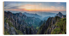 Wood print  Huangshan - Jan Christopher Becke