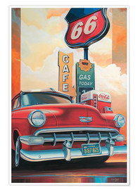 Premium poster  Route 66 Cafe - Georg Huber