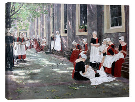 Canvas  Orphanage in Amsterdam - Max Liebermann
