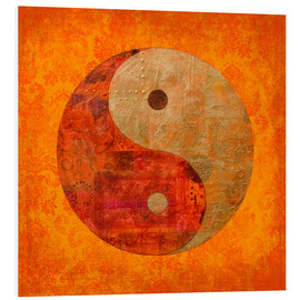 Foam board print  Yin and yang - Andrea Haase