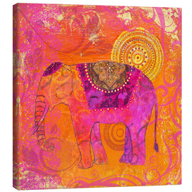 Canvas print  happy Elephant III - Andrea Haase