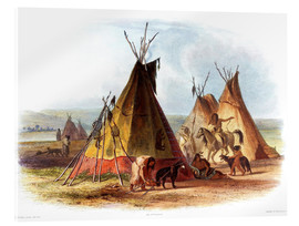 Acrylic print  Camp of Native Americans - Karl Bodmer