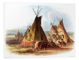 Foam board print  Camp of Native Americans - Karl Bodmer